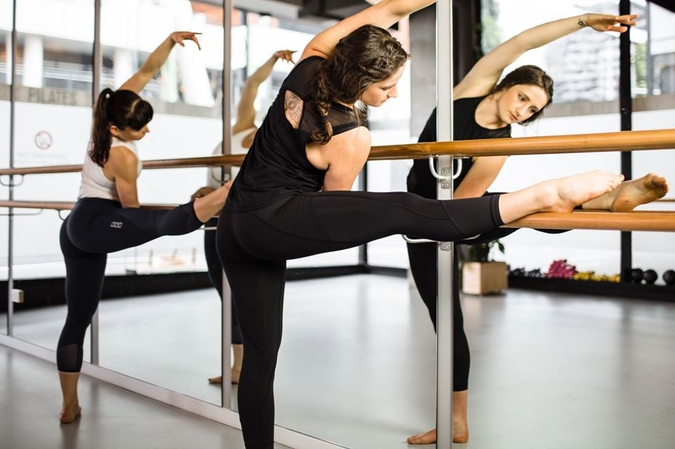 Two Women doing Barre Fusion Classes at Pilates on Bourke