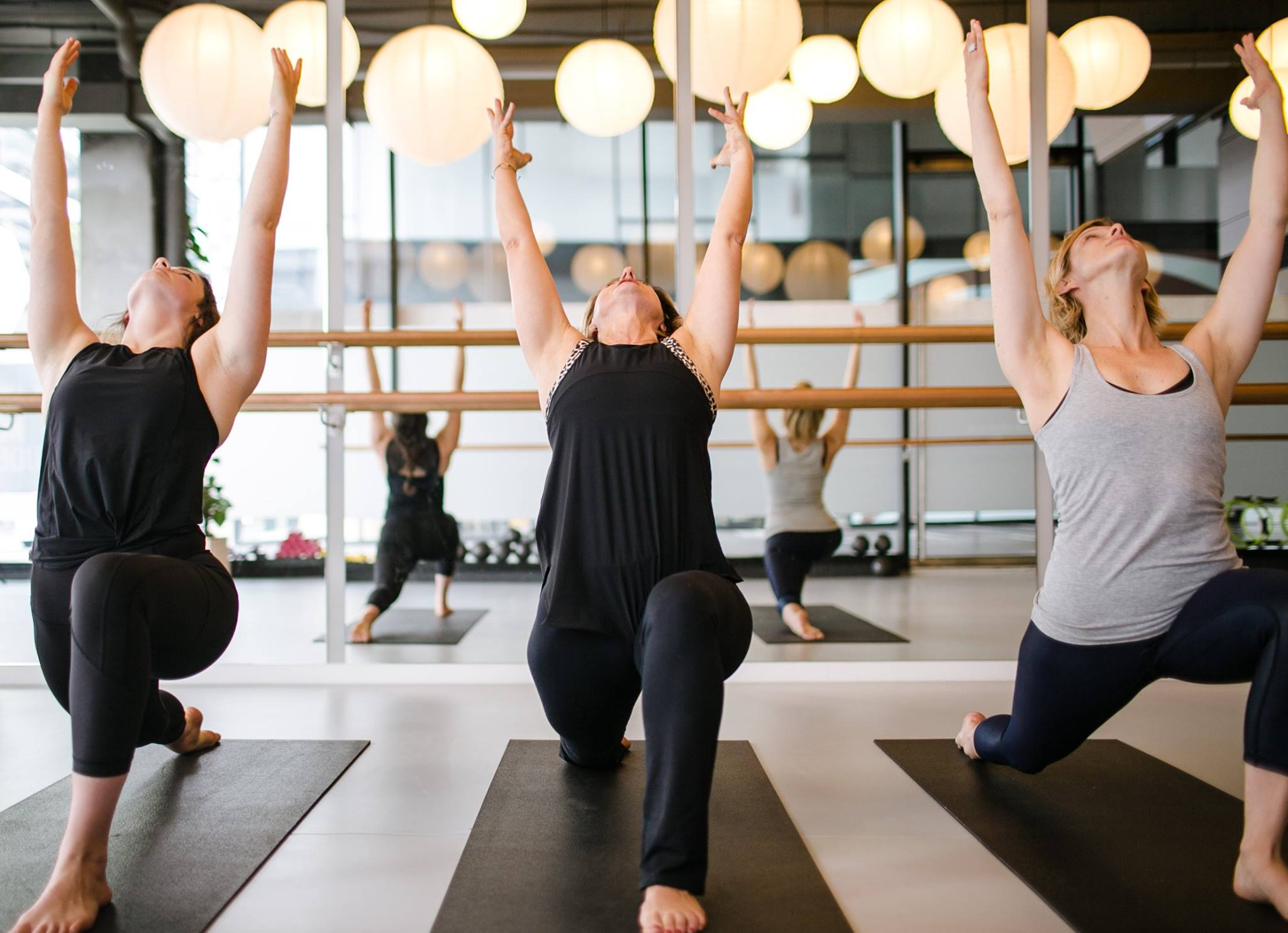 Women doing Yoga at Pilates on Bourke